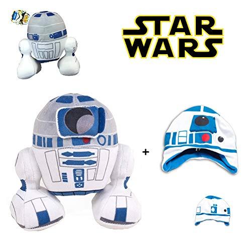 SW Star Wars - Plüsch R2D2 8'/22cm Qualität super Soft + Junge Mütze