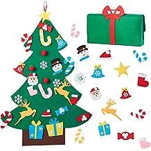 N&T - Juego de árbol de Navidad de Fieltro con Bolsa de Regalo para niños,
