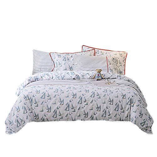 lausonhouse 100% Baumwolle Druck Bettbezug Set, baumwolle, multi, Queen -