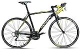 28 Zoll Montana Zerow Herren Rennrad Carbongabel 24 Gang, Farbe:Schwarz-Gelb, Rahmengröße:48cm