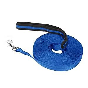 Vivifiantes Laisse de dressage de chien, 20m/19,8m de long en nylon Laisse d'entraînement pour animal domestique suivi d'entraînement Obéissance Laisse (Bleu)