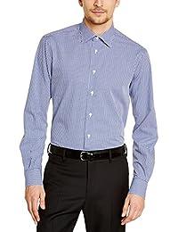 Tommy Hilfiger Tailored JHN SHTCHK99002 - Chemise habillée - Coupe droite - Manches longues - Homme