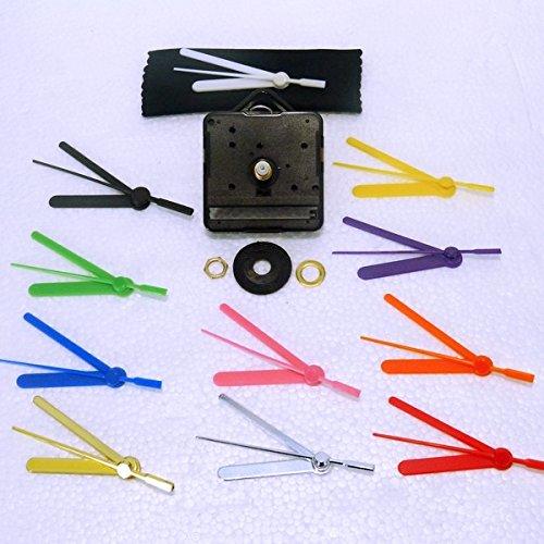 New Ersatz Sweep (nicht Inlett leise) Quarz-Uhrwerk Motor mit 55mm farbige Hände–DIY–Armaturen–(mittel-17,5mm Gesamtlänge Spindel) 55mm Yellow Hands