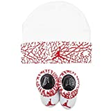 jordan kids Ele Print Hat and Bootie Set white