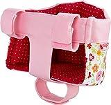 HABA 304109 - Puppen-Fahrradsitz Blumenwiese, Puppensitz mit Klettverschluss für Fahrrad und Schlitten; Puppenzubehör für alle HABA Puppen; Spielzeug ab 18 Monaten