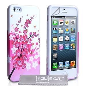 iphone 5s tasche rosa wei silikon gel blumen biene. Black Bedroom Furniture Sets. Home Design Ideas