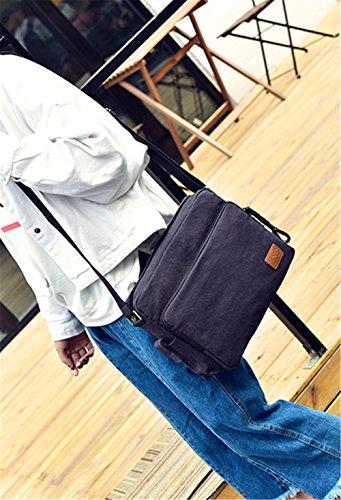Xinmaoyuan uomini borsette borsa messenger in tela spalla Casual Men Bag,grigio Nero con blu