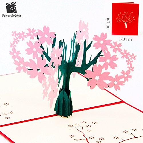WJDHKMMD Grußkarten,3D-Grußkarte,Danke Karten Postkarte Mit Umschlägen 3D Pop-Up Papier Geschnitten Geburtstag Grußkarte Muttertag Geschenk Für Liebhaber Blumentopf, 2020