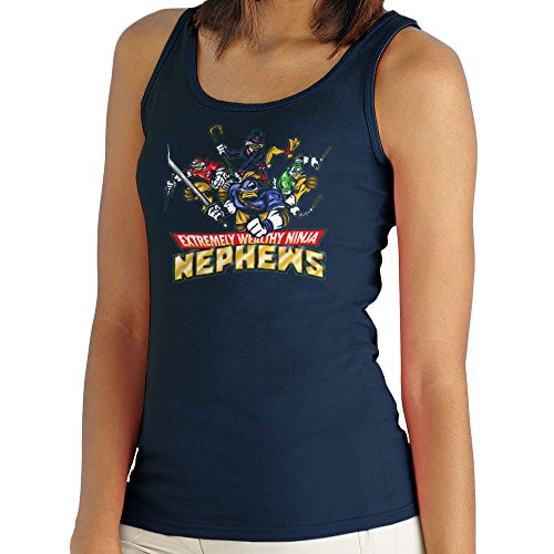 Extremely Wealthy Ninja Nephews DuckTales TMNT Women's Vest Navy blue