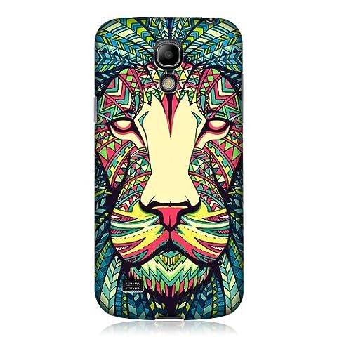 Head Case Designs Coque pour Samsung Galaxy S4 mini I9190/I9192 Motif lion aztèque