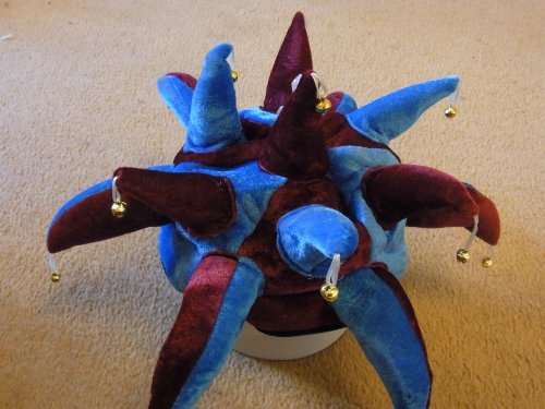 West Ham United Jester Hat for Fancy Dress Claret and Sky Blue