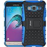ykooe Galaxy Grand Prime Hülle, (TPU Series) Samsung Grand Prime Hybrid Handyhülle Drop Resistance Handys Schutz Hülle mit Ständer für Samsung Galaxy Grand Prime (Blau)