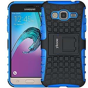 Galaxy Grand Prime Hülle, ykooe (TPU Series) Samsung Grand Prime Hybrid Handyhülle Drop Resistance Handys Schutz Hülle mit Ständer für Samsung Galaxy Grand Prime (Blau)