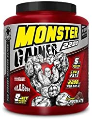 Vit-O-Best Monster Gainer 2200, Suplementos Alimentarios para Deportistas, Sabor a Chocolate - 9000 gr