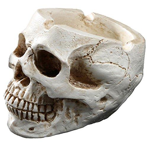 YX cenicero esqueleto personaje casa adornos resina calavera para decoración de Halloween Bar Accesorios