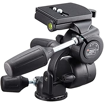 Manfrotto 808RC4 Rotule 3 directions avec ressorts Large plateau rapide Charge maximale : 8kg