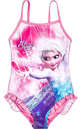 Frozen Mädchen Badeanzug DQE180 (Rosa (1803), 8 Jahre-128) (Disney Kostüm Plus Größe)