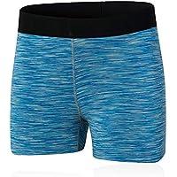 Mujer Pantalones cortos Pantalones cortos para correr para ejercicios de fitness para mujeres, pantalones elásticos de deporte Cintura Pantalones cortos deportivos Running Pantalones cortos de yoga