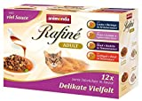 Animonda Rafine Adult Katzenfutter Delikate Vielfalt in Sauce, 4 x 12er Mix-Pack (48 x 100 g)