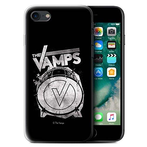 Officiel The Vamps Coque / Etui Gel TPU pour Apple iPhone 7 / Batterie Design / The Vamps Graffiti Logo Groupe Collection Grosse caisse