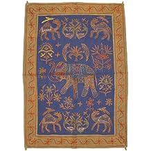 4c83c76b6e4ec Étnica India decoración-pared-pintadas a mano bordado trabajo clásico  alfombra