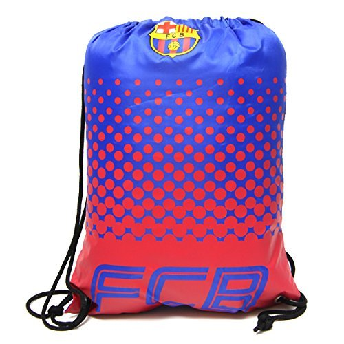 Barcelona FC Football Team Fade Drawstring Swimming Kit Gym Bag by Official Football Merchandise