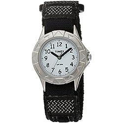 Timex Kids Analog Black Nylon Fast Wrap Velcro T79051