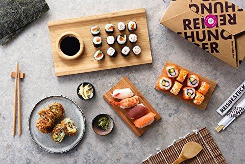 Reishunger Sushi Box - Orignal Japanische Zutaten bester Qualität - Für bis zu 4 Personen - Perfekt auch als Geschenk (3er Vorteilspack)