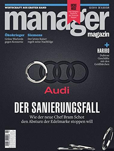 "manager magazin 02/2019 \""Audi: Der Sanierungsfall\"""