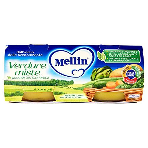 Mellin Omogeneizzato di Verdure Miste 100% Naturale 24 Vasetti da 80 gr