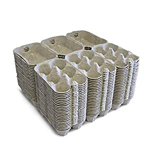 Happy Chickens 100 X 1/2 DOZEN NEW EGG BOXES/CARTONS SUITS ALL POULTRY CHICKEN EGGS