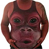 Rcool Männer Plus Size Elastische ärmellose Obesity Tops Tank Weste O-Neck Bluse (XXL, Weinrot)