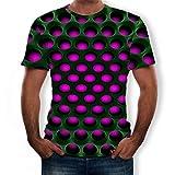 T-Shirt Herren,ESAILQ Herren Baggy Baumwolle Leinen SOID Farbe Kurzarm Retro T Shirts Tops Bluse