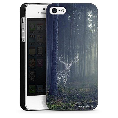 """artboxONE Handyhülle Apple iPhone 6s, weiß Silikon-Case Handyhülle """"Oh Deer Case"""" - Geometrie Natur Surrealismus Tiere - Smartphone Silikon Case mit Kunstdruck hochwertiges Handycover von Day Vrban Hard Case schwarz"""