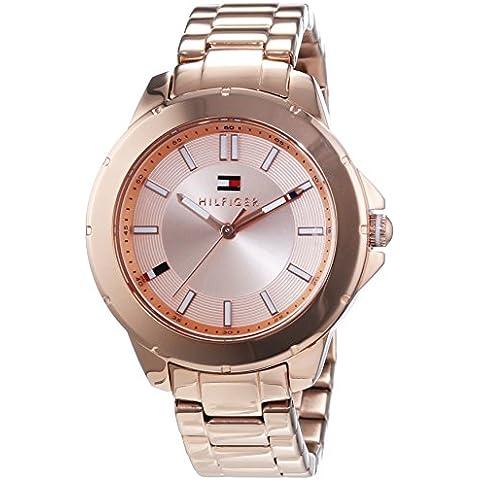 Tommy Hilfiger Watches KIMMIE - Reloj Analógico de Cuarzo para Mujer, correa de Acero inoxidable chapado color Oro