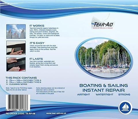 Tear Aid Tape–Bateau et voile Kit de réparation–Type A et B–Bandes