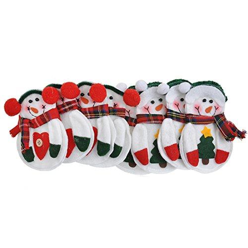 8mini bonhomme de neige de Noël Table pour argenterie de Noël Decor