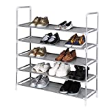 Coorun Schuhregal Schuhständer Schuhablage Schuhschrank 5/8/10 Ebenen Weiß Schwarz für 20/32/40 paar Schuhe