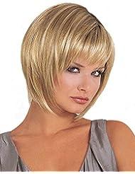 Tsnomore Trendy droites Chic 4 pouces couleur mélangée courtes femmes perruque