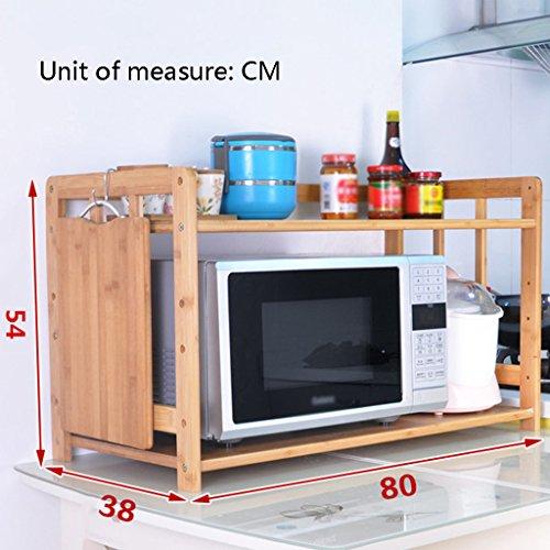 Anna Étagères de Cuisine Étagères de Cuisine polyvalentes Étagères de Four à Micro-Ondes Étagères de Rangement Supports de Four (Taille : 80cm)