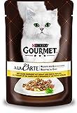 Gourmet a la Carte Katzenfutter Huhn garniert mit Pastaperlen, 24er Pack (24 x 85 g) Beutel