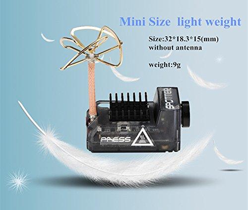 HankerMall Spotter V2 Micro AIO-Kamera 5.8G mit integriertem OSD-Mikrofon, FOV170 700TVL, Video Vtx 40ch Einstellbar VTX für Mini-RC-Drohne