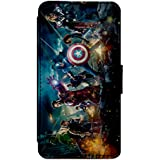 Marvel DC Avengers Battle Leather Flip Phone Case Cover - Wallet - For iPhone & Samsung's (iPhone 4 / 4s)