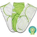 Ziggy Baby Swaddle Blanket Wrap Set, Grey/Green/White, by Ziggy Baby