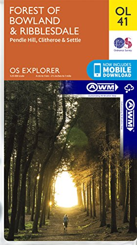 Forest of Bowland & Ribblesdale ~ Explorer OL41 (The Outstanding All Weather Map)