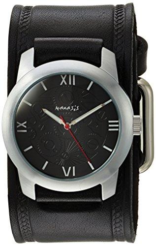 Nemesis HST068K - Reloj de pulsera hombre, piel, color Negro
