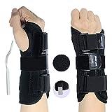 RHINOSPORT Handgelenkbandage Handgelenkstütze Handgelenkschiene, Schutzfunktion Schmerzlinderung und die Stabilität unterstützen, behilflich für Männer und Frauen (Rechte, M/L)