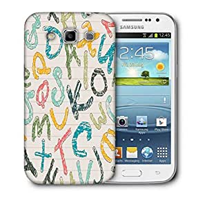Snoogg Colors Of Alphabets Printed Protective Phone Back Case Cover For Samsung Galaxy Samsung Galaxy Win I8550 / S IIIIII