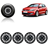 #10: Auto Pearl-Premium Quality Car Full Black Wheel Cover Caps Black 14 inches Press Type Fitting for - Volkswagen Polo