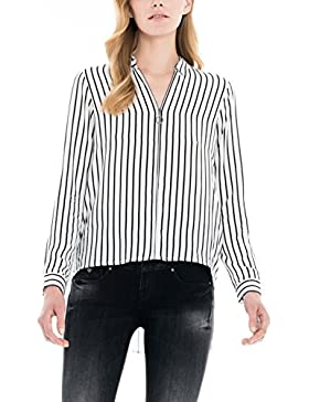 SALSA Camisa rayada con Cremallera